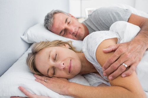 Snoring Solutions - Peaceful Sleeping Couple